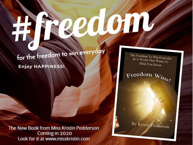 Freedom, happiness, wins, book