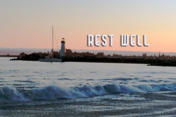Rest well, vacation well, relax, chillout, recharge, grow